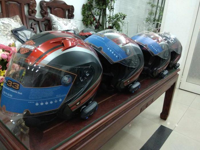 Tai nghe nón bảo hiểm M1S Evo gắn nón Harley